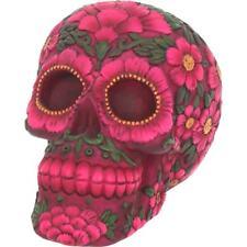 Sugar Blossom Skull Day of the Dead Gothic Art Gifts Figurine Decor Ornament