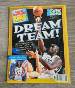1996 Shaquille O'Neal Olympic Dream Team Sports Illustrated For Kids Magizine