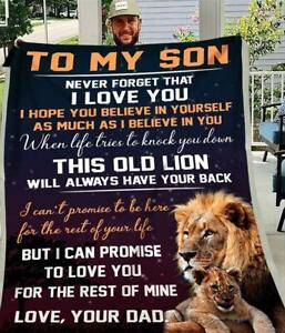 Lion Dad To My Son I Can Promise To Love You For The Rest Of Mine Sherpa Blanket