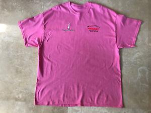 Penske Florida Men's T-Shirt Pink 100% Cotton Cancer Awareness  Size 2XL