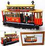 MS639 Red Tram Car Retro Clockwork Wind Up Tin Toy w/Box