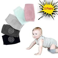 New listing 5 pairs baby crawling knee pad,elbow cushion unisex multi color. Expandable