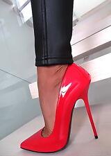 NEU 1969 ITALY LACK LEDER Anouk Z61 Red Patent Leather Pointy Toe Pumps 35-45