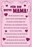 Für die beste Mama Blechschild Schild gewölbt Metal Tin Sign 20 x 30 cm F0183-X