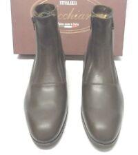 Zippered Ankle Boots by Stivaleria Secchiari in Dark Brown Leather Euro Size 41