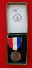 1921-1928 Bronze Contest Medal Red White & Blue Ribbon Troop V-3 New Castle, PA