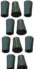 10 Round Rubber Ferrules Tips End Caps Trekking Hiking Stick Nordic Walking Pole