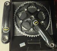Guarnitura bici corsa FSA Team Issue Carbon pro 53-39 175 Crankset Bike carbonio