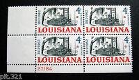 Sc # 1197 ~ Plate # Block ~ 4 cent Louisiana Statehood, 150th Anniversary Issue