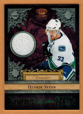 2011-12 , PANINI , CROWN ROYALE , HENRIK SEDIN , CARD #11 , LORDS OF THE NHL