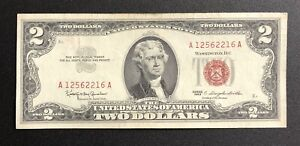 1963 Red Seal $2 Dollar Bill Legal Tender Note (TF193)