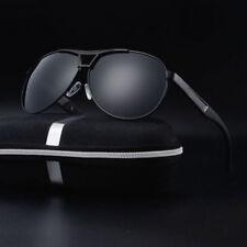 Mens Retro Aviator Vintage Polarized Sunglasses Metal Fashion Eyewear Glasses