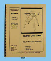 Sears Craftsman 113.242700 113.242720  9 Inch Table Saw Op /& Parts Manual #1506