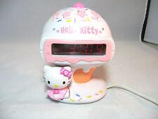 """Hello Kitty Ice Cream Alarm Clock Radio 5.5"""" tall Sanrio"""