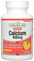 Natures Aid Calcium Chewable 400mg Vitamin D3 60 Tablets