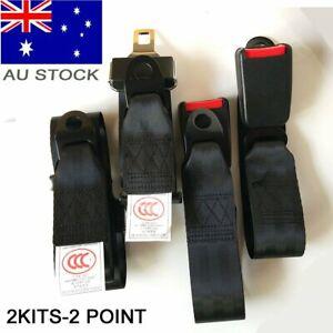 For Ford Car 2 Point Universal Seatbelt Kit Seat Lap Sash Belt Strap Retractable