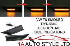 VW T6 Dynamic LED side indicator repeaters smoked black sequential flowing light