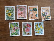 VIETNAM 1077 WILD FLOWERS 7 DIFFERENT C.T.O. USED STAMPS