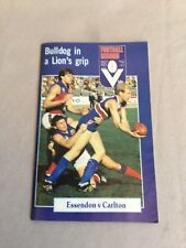 VFL Football Record 1982 Essendon  V Carlton