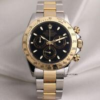 Full Set Rolex Daytona 116523 Steel & Gold Black Dial