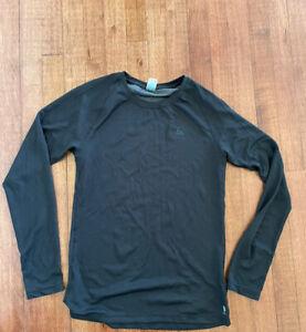 ODLO Black Long Sleeve  Crew Neck Active Shirt Size M