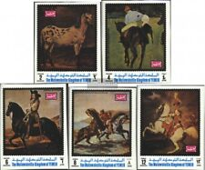 Jemen(Königreich) 1007B-1011B (kompl.Ausg.) postfrisch 1970 Pferdegemälde