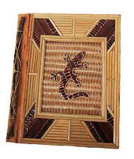 Large Handmade photo album, made using natural lief & bark LIZARD design new