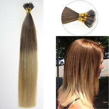 8A Double Drawn Remy Human Hair Extensions Pre Bonded Nano Ring Nano Beads Tip