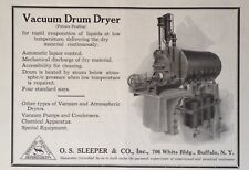1921 AD(J19)~O.S. SLEEPER & CO. BUFFALO, NY. VACUUM DRUM LIQUIDS DRYER
