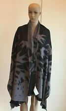 NWT McQ Alexander McQueen Wool Blend Swallow Scarf/Shawl Pale Pink 80x30 Italy