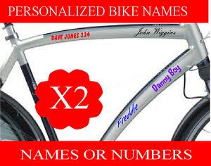 Personalised BMX Bike Cycle Motorbike Bike Crash Helmet Names Sticker Decals