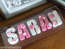 SILICONE LETTER MOULDS - Choose - Alphabet Wedding Resin Flowers Wax Cake