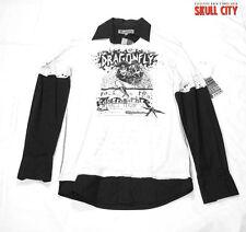 DRAGONFLY - EDWARD DADA VINTAGE SHIRT - Clothing Punk Indie Skull Pirate - L