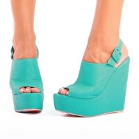 IRON FIST MANSLAYER TURQUOISE WOMEN WEDGE (R4B)