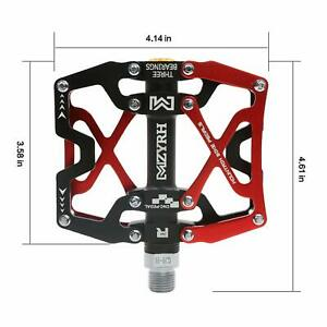 "1Pair MTB Bike Pedal High Strength CNC 9/16"" Cycling Pedals L&R BMX Road Bicycle"