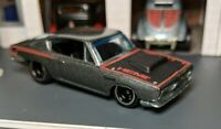 Hot Wheels Plymouth HEMI Cuda Chase -Real Riders -Garage Mint Grey  Initialed