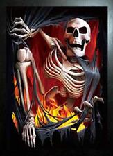 BLACK FRAMED SPIRAL VAMPIRE SKELETON RETURNS - 3D FLIP PICTURE 365mm X 465mm