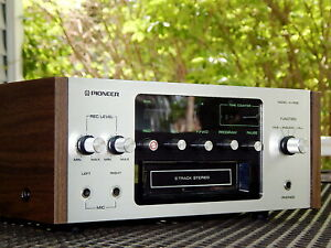 Pioneer H-R99 H-R100 8 Track Tape Deck - PRO TECH SERVICED - VIDEO DEMO