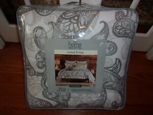 NIP Home Accents Casual Living Bailey Full Queen Comforter & Shams Set 3pc