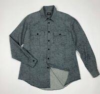 Schott nyc shirt camicia uomo usato L sportwear grigio used manica lunga T5860