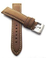 Vintage 22 mm Uhrenarmband Wildleder braun mit Naht Uhrenband