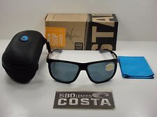 COSTA DEL MAR KIWA POLARIZED KWA11 OGP SUNGLASSES BLACK FRAME/GRAY 580P LENS