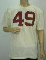 VINTAGE 70's AUTHENTIC CHAMPION FOOTBALL JERSEY SIZE LARGE CRIMSON WHITE #49