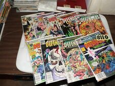 Defenders lot of 9 books 104 106 107 115 116 120 124 126 and 135