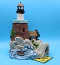 """Aquarium Lighthouse Decoration Ornament By Fritz For Fish Tank 8.5"""" Tall New"""