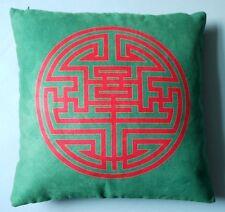 Kissenhülle Doppeltes Glück aus China grün/magenta 45 x 45 cm