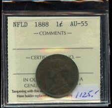 1888 Newfoundland One Cent - ICCS AU-55 - XFW660