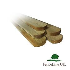 10 Pack Of Treated Picket Pales Round Top Garden Fencing 70mm Wide 1.2m 4ft Long