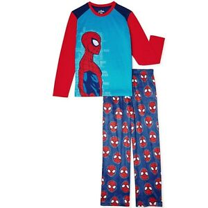 MARVEL SPIDERMAN Boy's size XS(4-5) PAJAMAS 2-Pc Fleece Bottoms ~ New with Tags