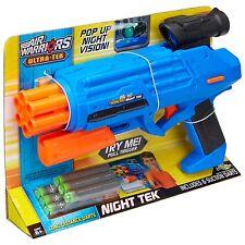 Guerreros de aire noche Tek Dart Blaster con pop-up de visión nocturna 6 X Manual De Dardos